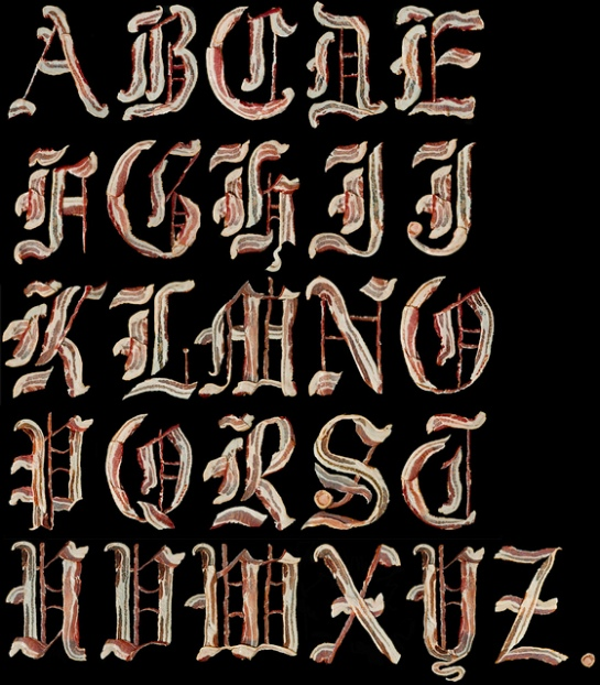 bacon alphabet 1