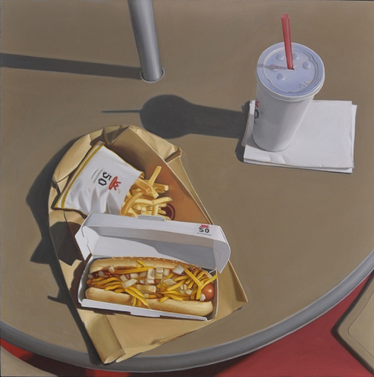 for here fast food painting 02